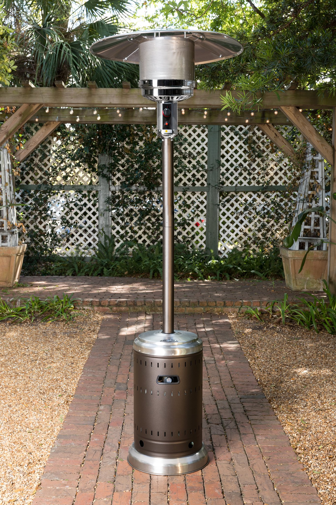 Ash and Stainless Steel Finish Patio Heater - Fire Sense