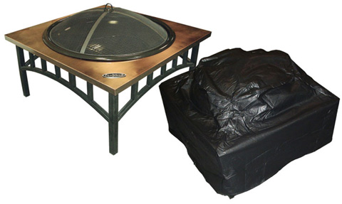 Outdoor Fire Table Vinyl Cover Low Square