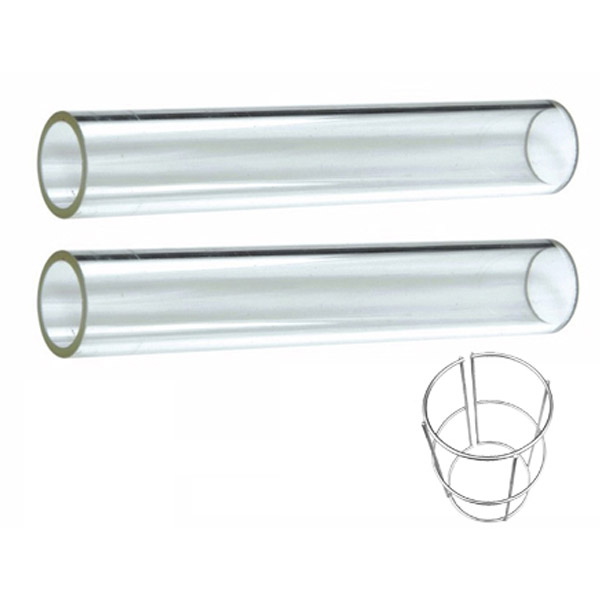 Quartz Glass Tube Replacement 2 Piece With Support Ring