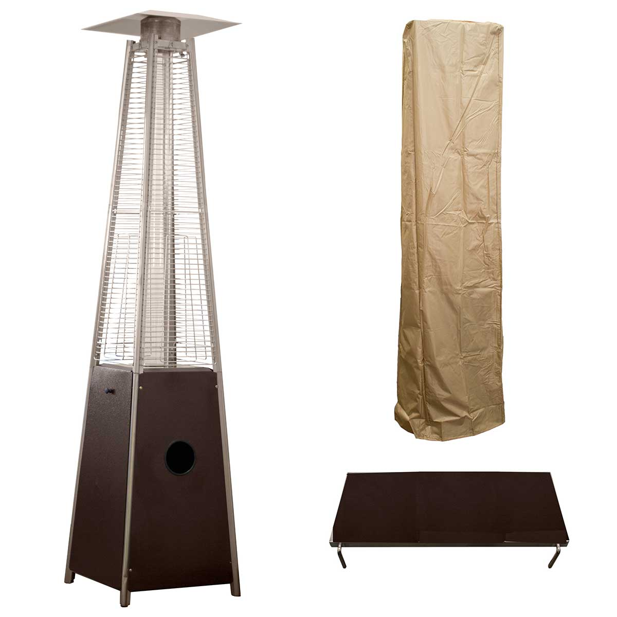 Hiland Bronze Glass Tube Patio Heater (HLDS01-GTHG-A)
