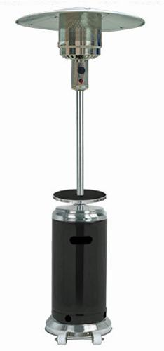Stainless Steel/Black Outdoor Patio Heater.