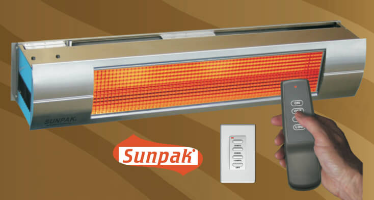 SunPak TSR TWO STAGE Gas Patio Heater