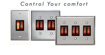 INFRASAVE 2 STAGE Control Illumanated Switch Gangs