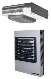 3.3kw-100kw Horizontal or Vertical Discharge Fan Forced Suspended Unit Heater