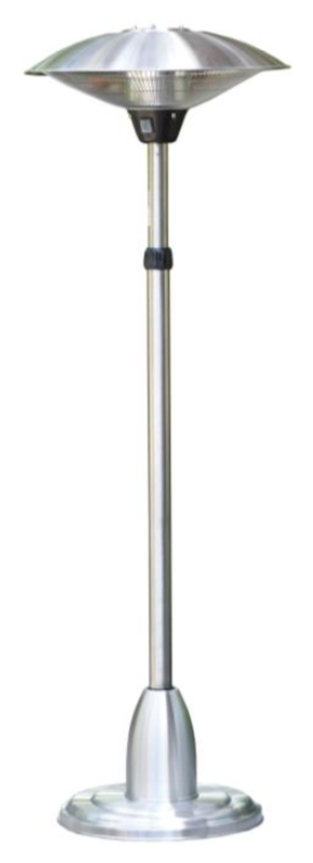 Telescopic Electric Patio Heater With Adjustable Head