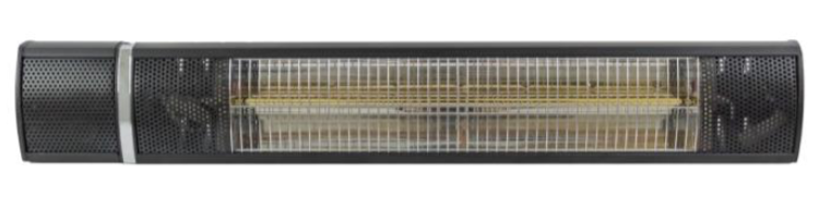 Wall Mounted Electric Heater in Black