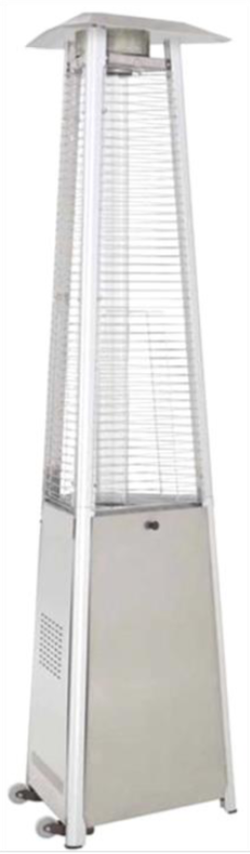 "94"" Tall Radiant Heat Glass Tube Outdoor Patio Heater"