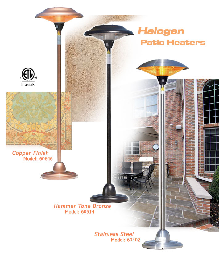 Electric patio heaters infrared portable wall mount outdoor units firesense floor standing round infrared patio heater stainless steel hammer tone bronze or copper workwithnaturefo