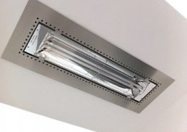 Flush Plaster Flush Ceiling Mount for 61 1/4""
