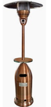 "88"" Tapered Copper Finish Heater"