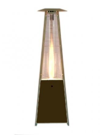 "91"" Tall Radiant Heat Glass Tube Outdoor Patio Heater"
